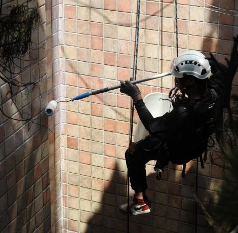 外牆磁磚防水,外牆防水,高空垂降